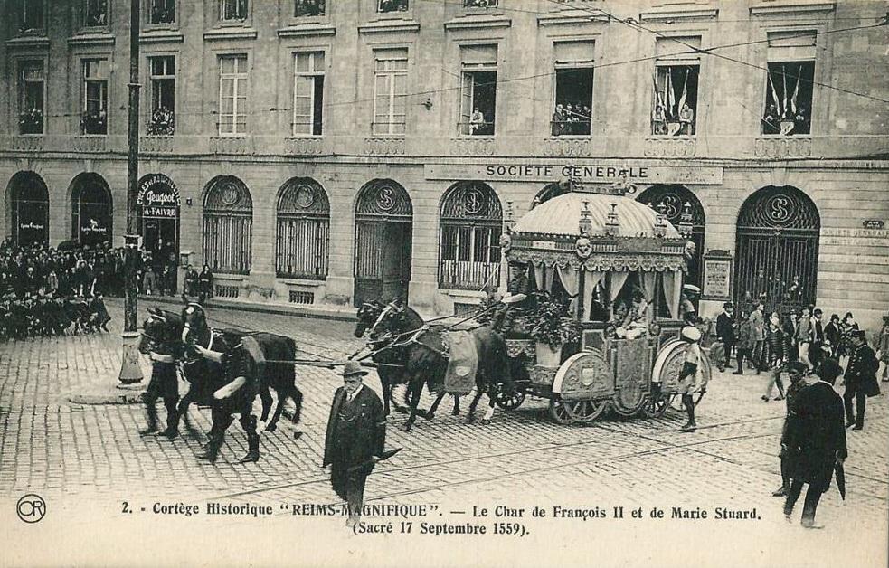 Reims magnifique Char de François II et de Marie Stuard