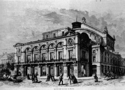 Omnibus, Théatre 1873 - source wikipedia