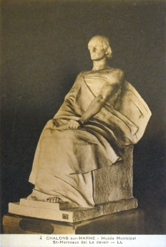Le Devoir, plâtre, Musée Chalons-en-Champagne