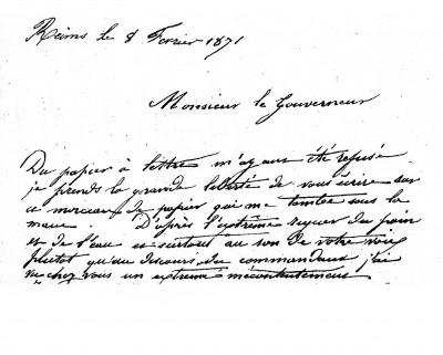 Abbé Miroy - DébutLettre au Gouv 8 fév1871