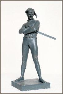 Arlequin, bronze, Casino Vichy.