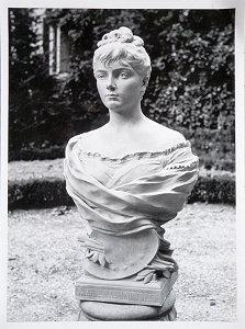 Marie Bashkirtseff, buste marbre, après 1884, non localisé.