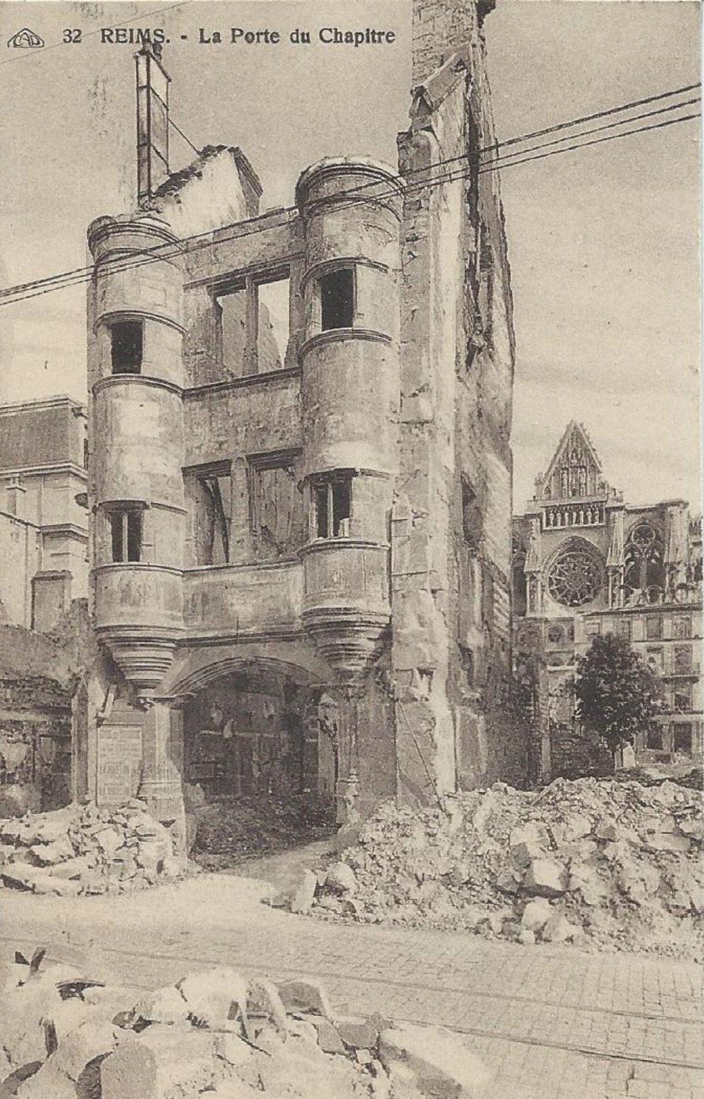 La Porte du Chapitre après la Guerre